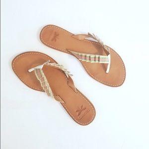 Talbots Ribbon Sandals 🎀💚💗